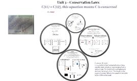 Unit 3 - Conservation Laws
