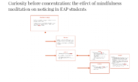 The effect of mindfulness meditation on EAP students noticin