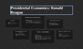 Presidential Econmoics
