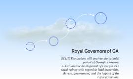 Royal Governors of GA