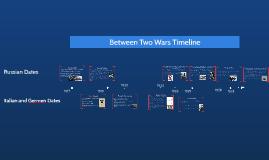 Between Two Wars Timeline