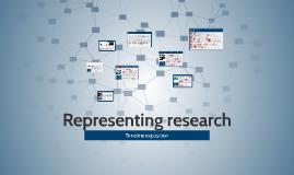 Representing research