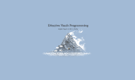 Effective Youth Programming