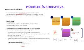 Copy of PSICOLOGÍA EDUCATIVA