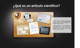 ¿Qué es un artículo científico?