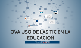 OVA USO DE LAS TIC EN LA EDUCACION