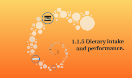 1.1.5 Dietary intake and performance.