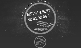an analysis of arizona and hicks Arizona v hicks, 480 us 321 (1987), held that the fourth amendment requires the police to have probable cause to seize items in plain view.