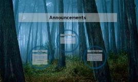 Announcements 06/21