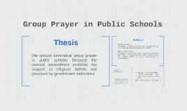 Group Prayer in Public Schools