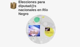 Elecciones para diputad@s nacionales en Río Negro