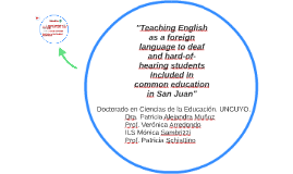 Teaching English as a foreign language to deaf and hard-of-