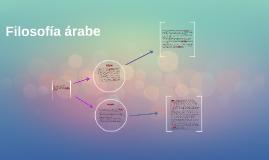 Filosofía árabe