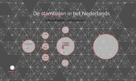 De stamtijden in het Nederlands