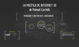 LA POLÍTICA DE INTERNET (II)