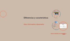 dato, información y documento