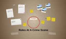 Copy of Roles At A Crime Scene