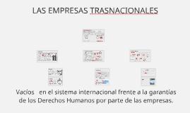 SURGIMIENTO DE LA EMPRESAS COMO ACTORES INTERNACIONALES