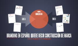 BRANDING EN ESPAÑOL QUIERE DECIR CONSTRUCCIÓN DE MARCA