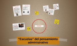 """""""Escuelas"""" del pensamiento administrativo"""