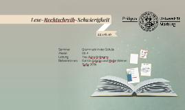 Lese-Rechtschreib-Schwäche