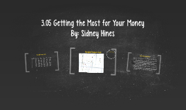 3.05 Getting the Most for Your Money