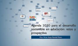 Agenda 2030 para el desarrollo sostenible en educación: reto