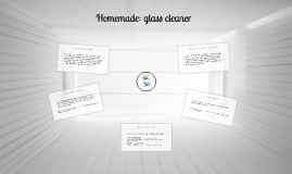 Homemade: glass cleaner