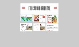 EDUCACIÓN ORIENTAL