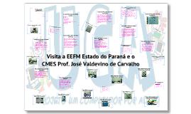 Visita a EEFM Estado do Paraná e o CMES professor José Valdevino de Carvalho.