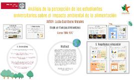 Percepción del impacto ambiental de la alimentación por los