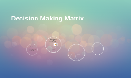 Copy of Decision Making Matrix