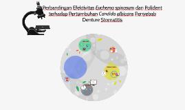 Perbandingan Efektivitas Euchema spinosum dan Polident terha