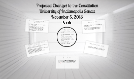 Proposed Changes to the Constitution
