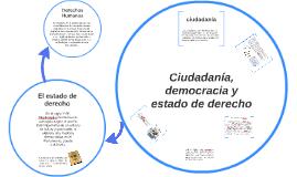 Ciudadanía, democracia y estado de derecho