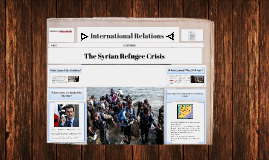 Copy of Syrian Refugees - International Relations