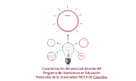 Caracterización del personal docente del Programa de Licenci