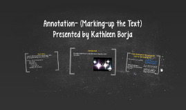 Introduction to Marking-up the Text