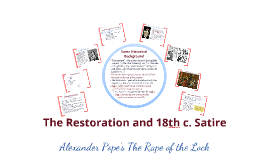 Alexander Pope's The Rape of the Lock (fall 2018)