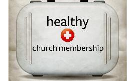 Healthy Church Membership