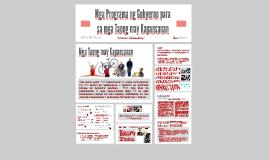 Mga Programa ng Gobyerno para sa mga Taong may Kapansanan