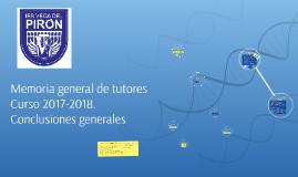 Memoria general tutores
