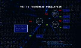 How To Recognize Plagiarism