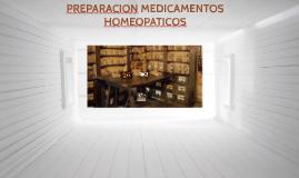 preparación de medicamentos homeopaticos