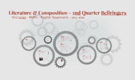 15/16 Literature & Composition - 2nd Quarter Bellringers