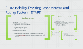 Sustainability Tracking, Assessment and Rating System - STAR