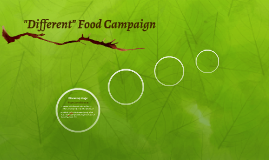 """""""Different"""" Food Campaign"""