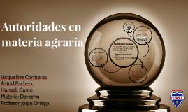 Copy of Autoridades en materia agraria