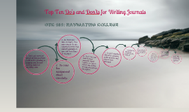 Journal Do's and Don'ts