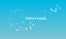 Zaina's Goals